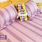 床包 / 特大雙人 印花設計款 / 蜻蜓紫迷 100%精梳棉  特大雙人床包含二個枕套