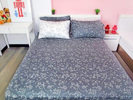 床包被套組 / 雙人 印花設計款 / 典藏雅緻 100%精梳棉  雙人床包被套組