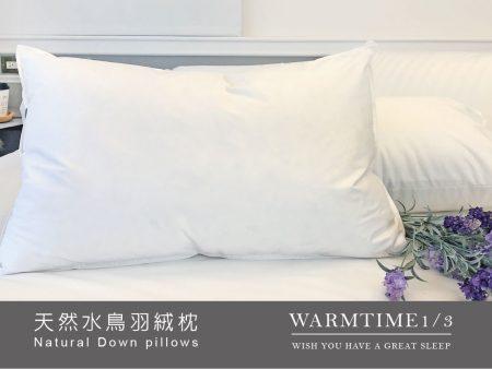 枕頭 / 天然水鳥羽絨枕 100%純棉 台灣製造 (超取限一顆)