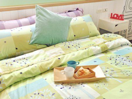 床包被套組 / 雙人 印花設計款 / 夏日綠洲 100%精梳棉  雙人床包被套組