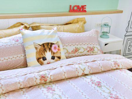 床包 / 單人 印花設計款 / 田園小碎花 100%精梳棉  單人床包含一個枕套