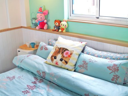 床包 / 加大雙人 印花設計款 / 飄絮 100%精梳棉  加大雙人床包含二個枕套