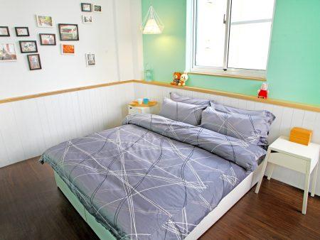 床包被套組 / 雙人 印花設計款 / 幾何線條 100%精梳棉  雙人床包被套組