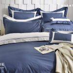 床包 / 特大雙人 純色設計款 / 湛藍 60支精梳棉 特大雙人床包含一個枕套
