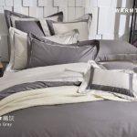床包 / 特大雙人 純色設計款 / 麻灰 60支精梳棉 特大雙人床包含二個枕套
