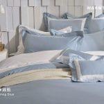 床包 / 特大雙人 純色設計款 / 霧藍 60支精梳棉 特大雙人床包含二個枕套